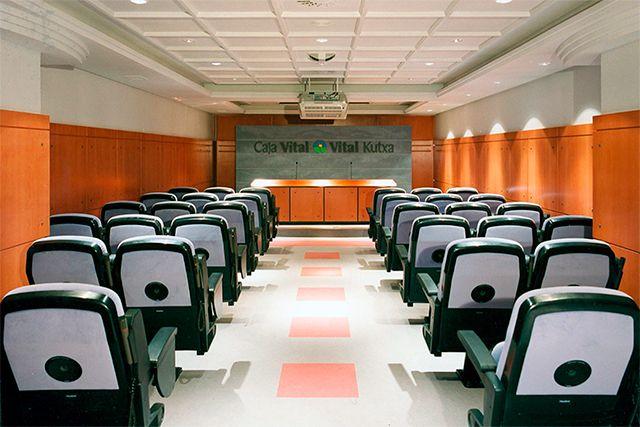 Sala de prensa de Caja Vital Kutxa (Vitoria - Gasteiz)