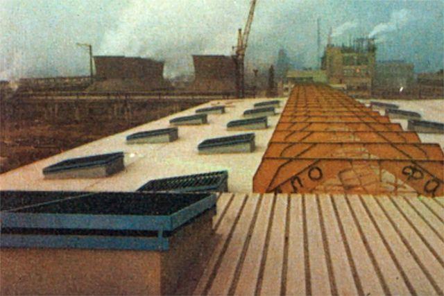 Naves para fabricación de MnO2 en Tiflis (Unión Soviética)