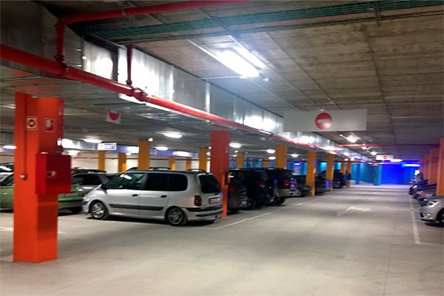 Centro Comercial en Melilla - Aparcamiento subterráneo